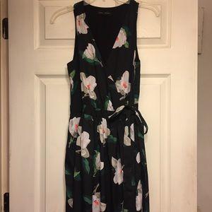 Banana Republic Floral Tea-Length Dress